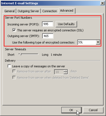 Configuration for POP3S and SMTP Auth | ISC, RIKEN